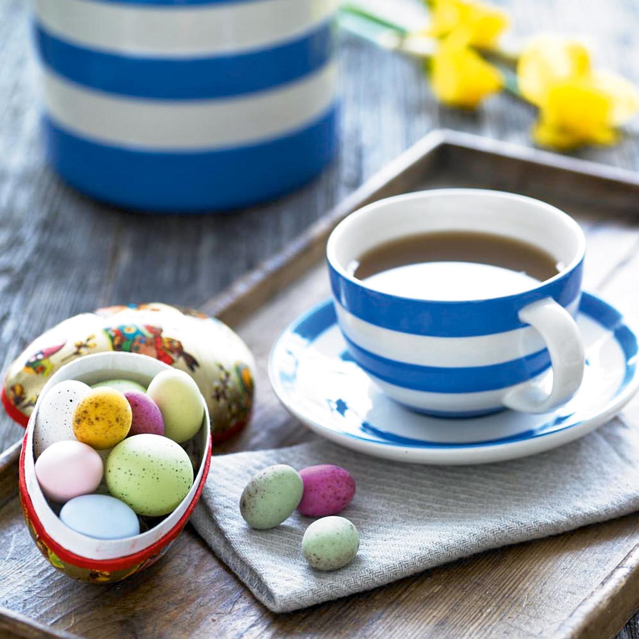 4 cappuccino tassen cornishware blau bei. Black Bedroom Furniture Sets. Home Design Ideas