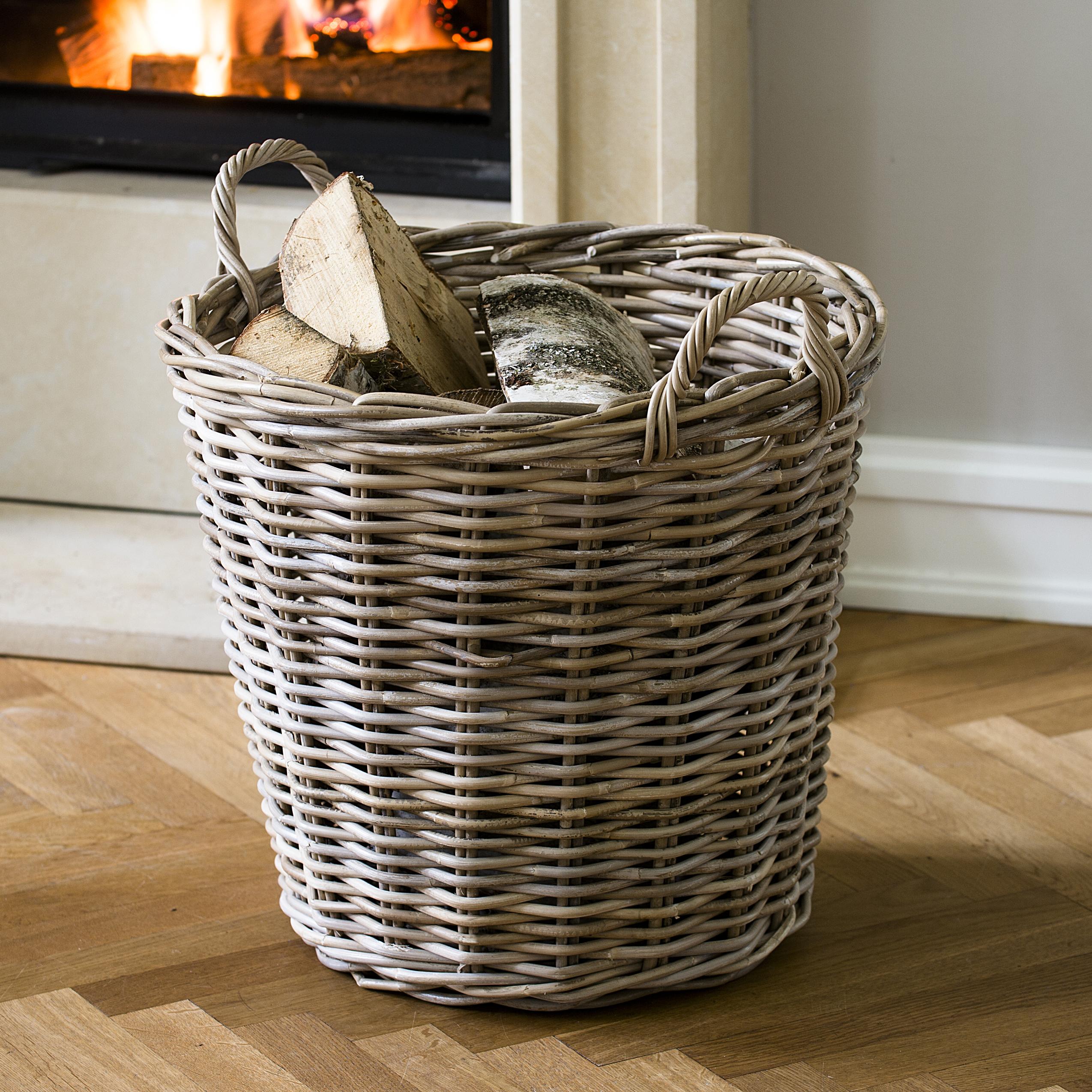 rattankorb rund bei kaufen. Black Bedroom Furniture Sets. Home Design Ideas