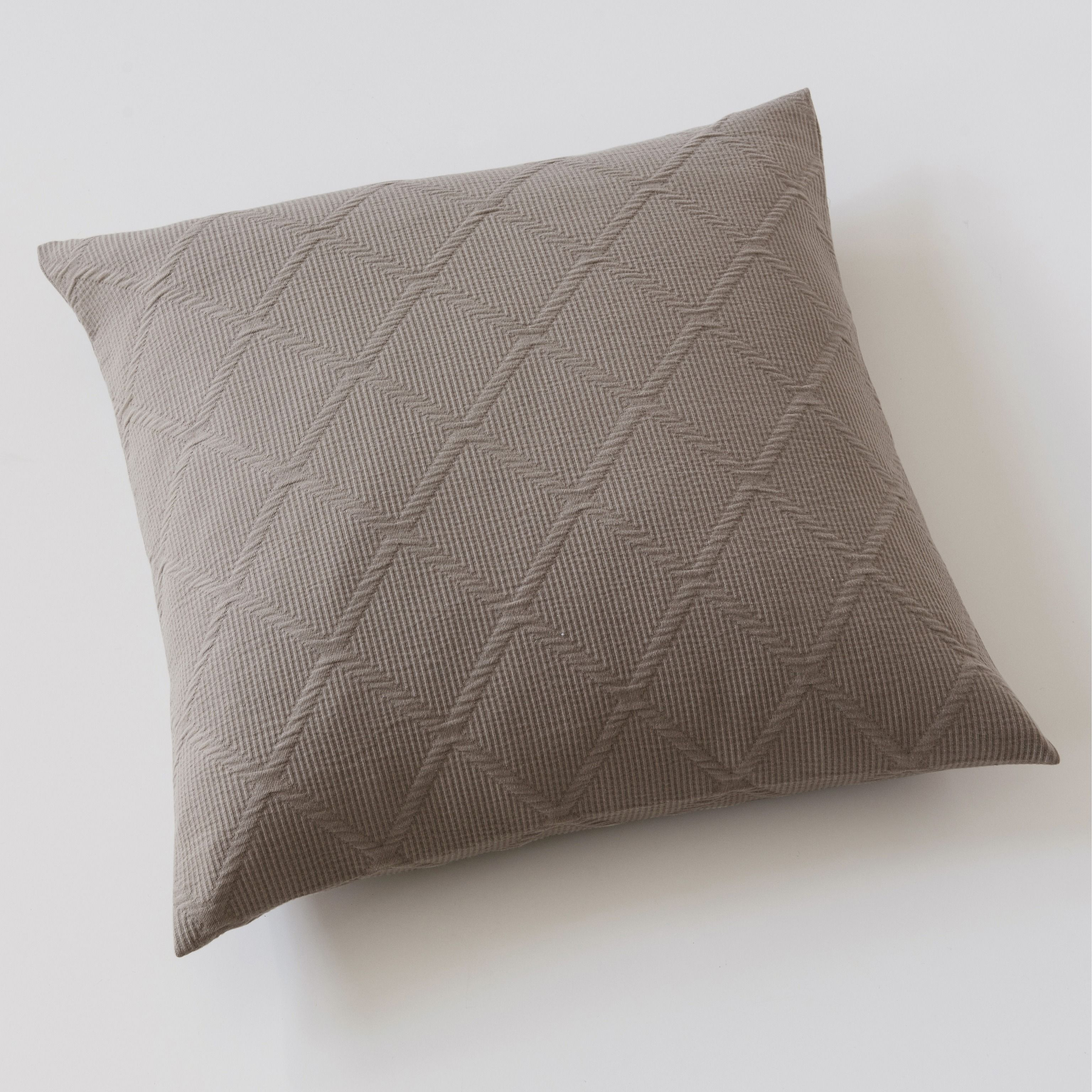 kissenbezug rauten 50 x 50 cm taupe bei. Black Bedroom Furniture Sets. Home Design Ideas