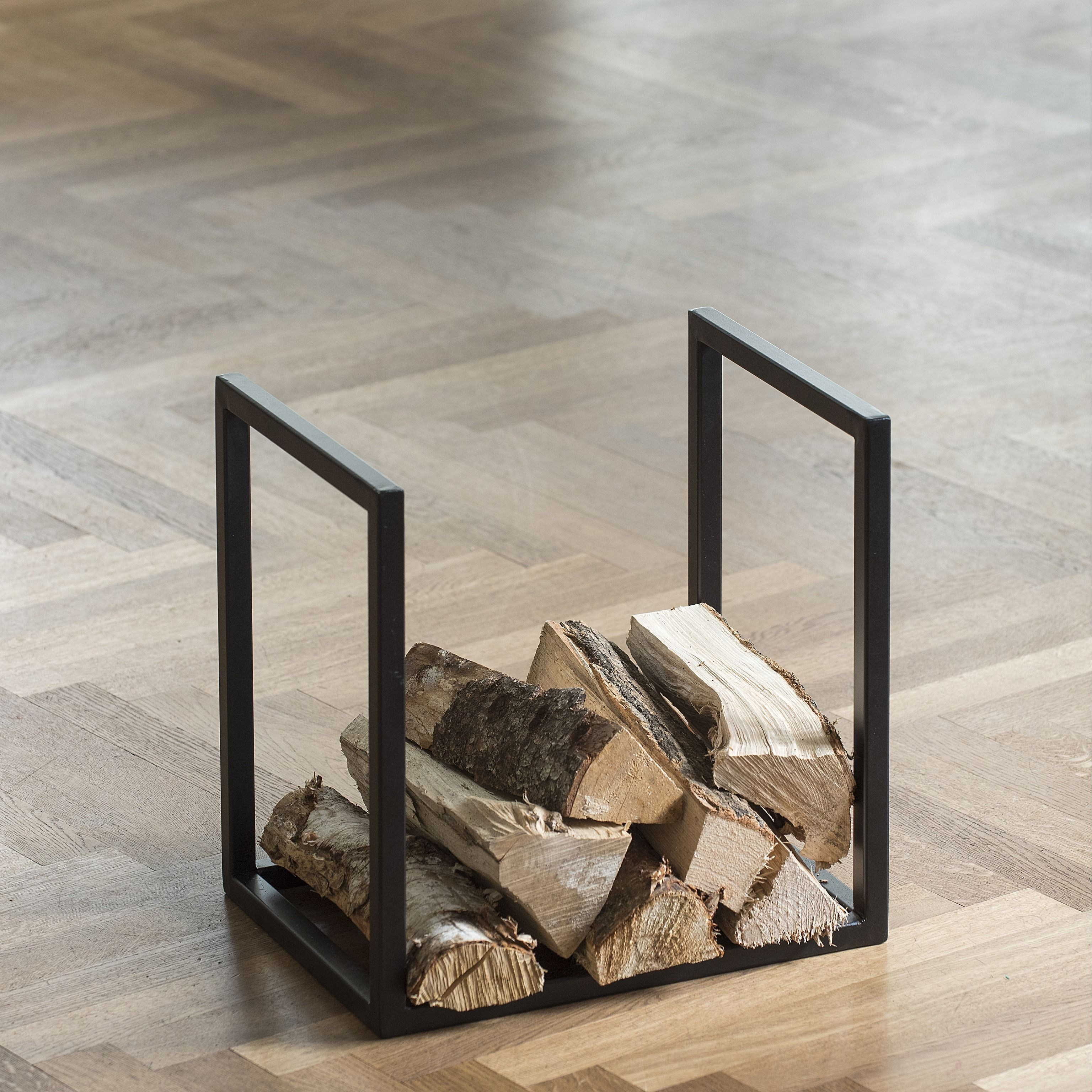 kaminholz st nder zurs schwarz lackiert 40 x 30 x 40 cm. Black Bedroom Furniture Sets. Home Design Ideas