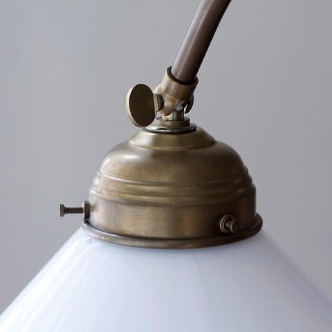 Berliner Messing Stehlampe mit Deckenfluter