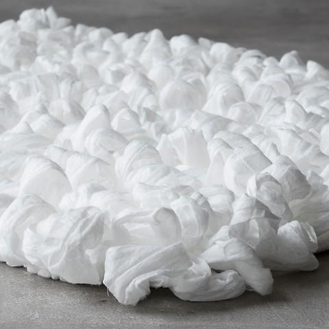 Torquato Schlingenteppich Weiß L