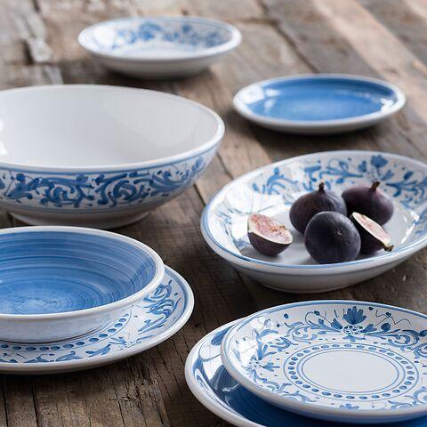 Ruggeri Mittlerer Teller - Brushed Blu Ø 26 cm