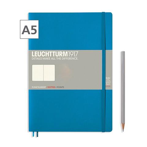 Notizbuch A5 Dotted Azur
