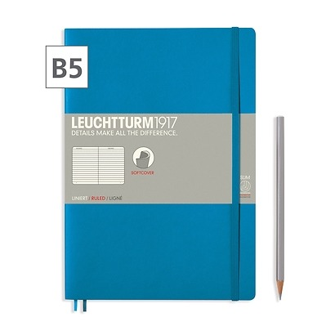 Notizbuch B5 Composition  Liniert Azur