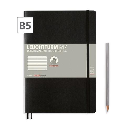 Notizbuch B5 Composition  Liniert Schwarz