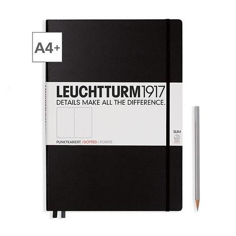 Leuchtturm1917 Notizbuch A4+ Master Slim Dotted Schwarz