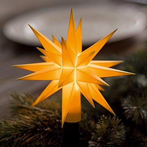Herrnhuter Sternen-Lichterkette Gelb