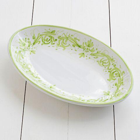 Ruggeri Adelasia Verde Mela Ovale Platte 36 cm