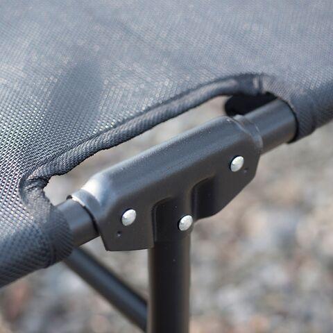 Aluminium-Dreibeinliege Amigo Limited Edition Schwarz