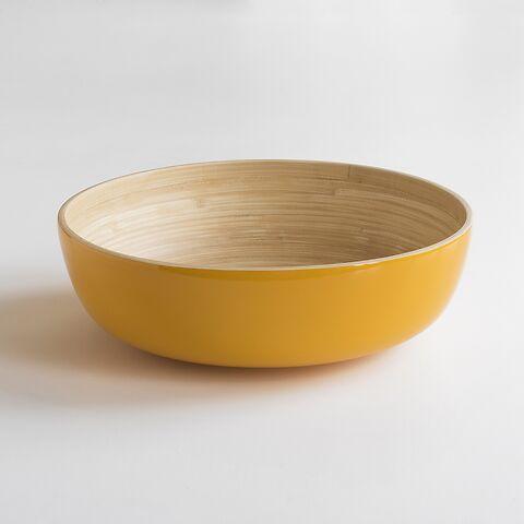 Salatschüssel Bambus XL Gelb