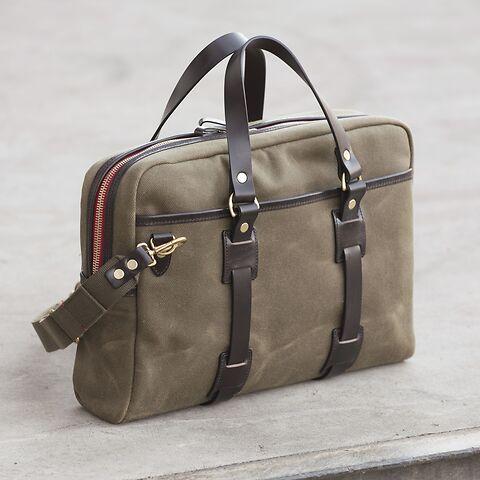 Croots Vintage Canvas Flight Bag Olive