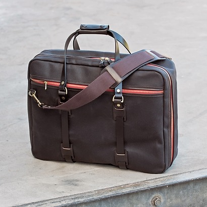 Croots Vintage Canvas Flight Bag Brown