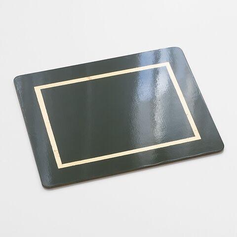 4 Tischsets 45 x 35 cm Green/Gold