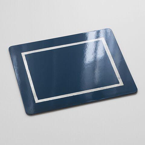 4 Tischsets 45 x 35 cm Blue/Silver