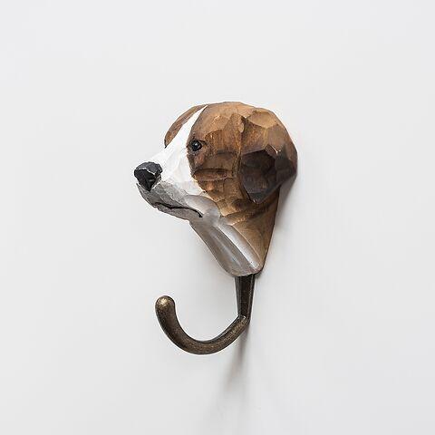 Handgeschnitzter Kleiderhaken Hund