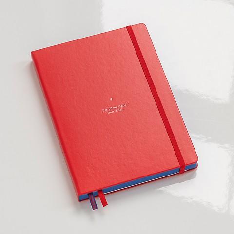 Leuchtturm1917 Notizbuch Bauhaus Medium A5 Rot