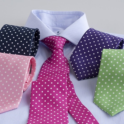 LACO Krawatte mit weissen Tupfen