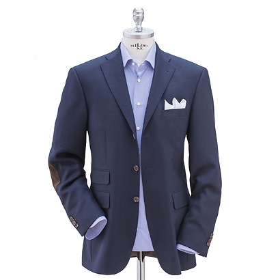 Risby & Leckonfield Blazer mit Lederpatches