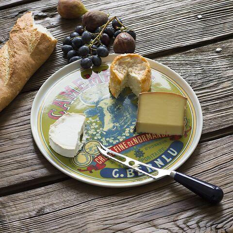 Käseteller und Käsemesser