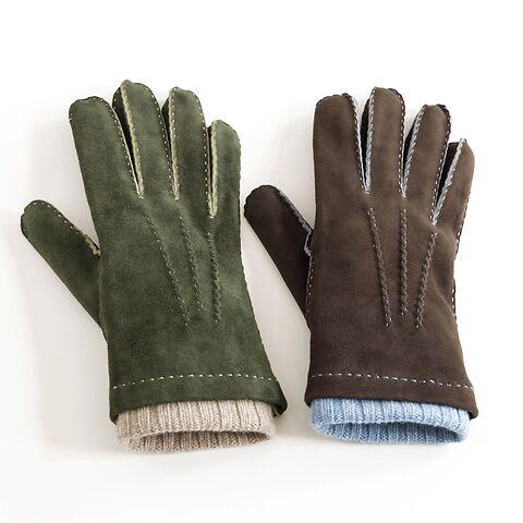 Herren Handschuh mit Stulpe aus Ziegenleder