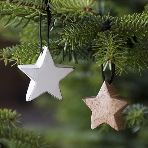 Sternenanhänger aus Holz