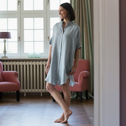 Sunday in Bed Pyjamashirt Rania Waschleinen