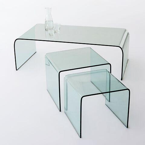 bow wohnzimmertische aus glas bei. Black Bedroom Furniture Sets. Home Design Ideas