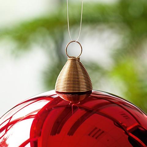 Lauschaer Weihnachtskugeln.6 Lauschaer Weihnachtskugeln 8 Cm
