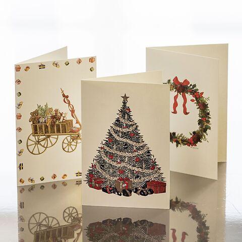 Weihnachtskarten Mit Kugelschreiber.Weihnachtskarten Crown Mill