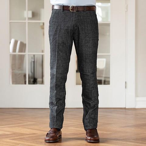 gut aussehend am beliebtesten modische Muster Mason's Hose Salt & Pepper Anthrazit