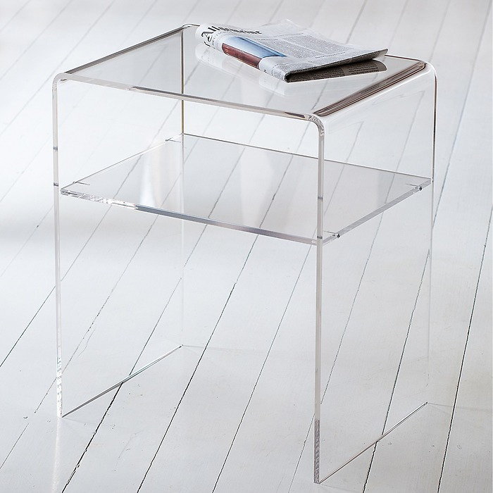 Acryl Beistelltisch 60 cm klar