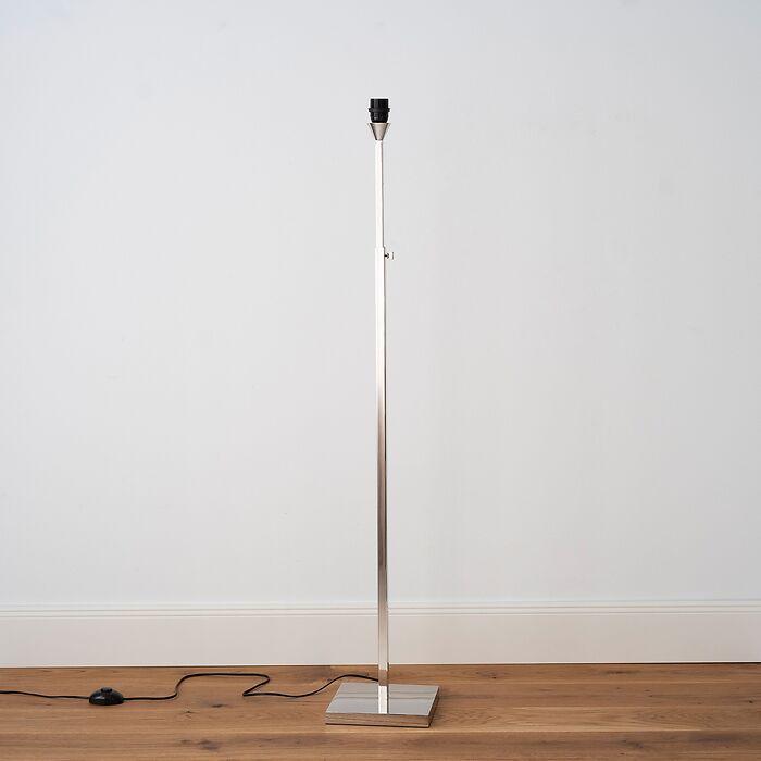 Verstellbare Stehleuchte L (120-168 cm) Nickel