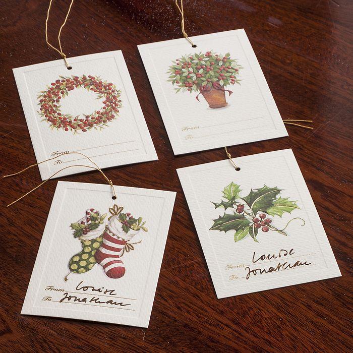6 Geschenkanhänger Weihnachtskranz