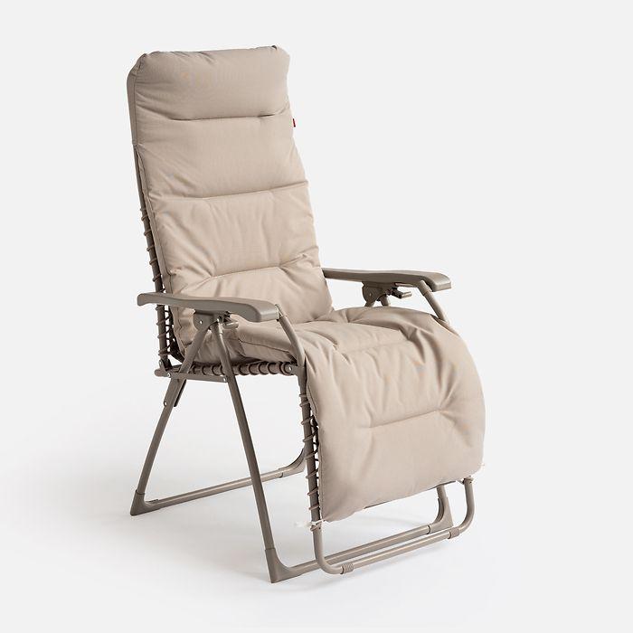Vlies Auflage für Liegestuhl Relax Taupe