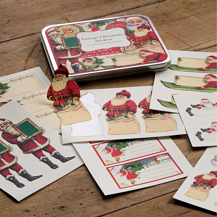 Vintage Christmas Stickers