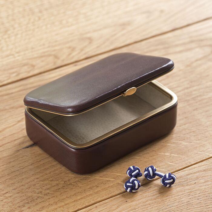 Hammann Boxcalf Manschettenknopfdose
