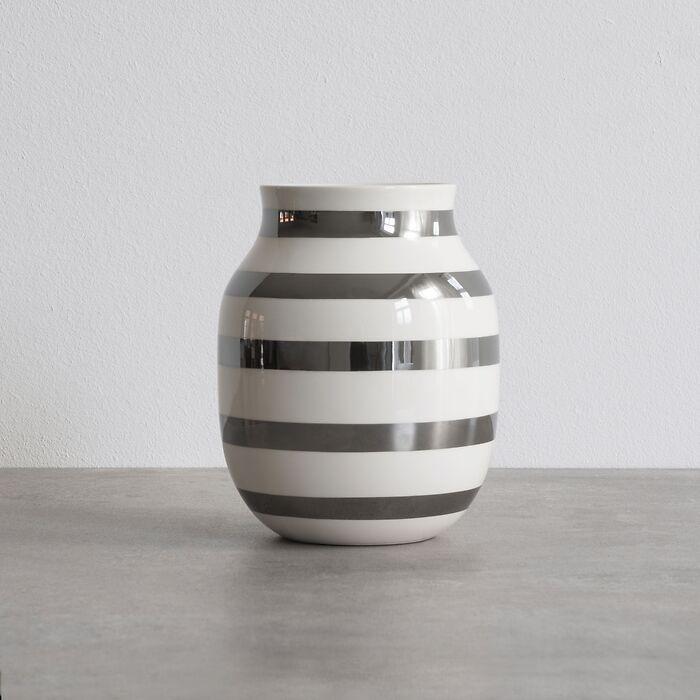 Omaggio Vase 20 cm Höhe Silber