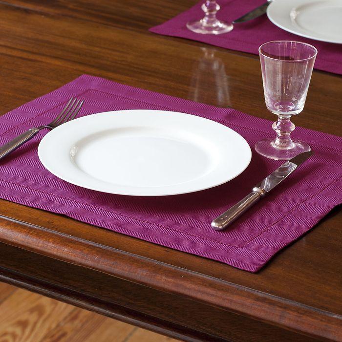 Tischset Herringbone Dunkelgrün