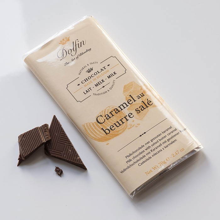 Dolfin Schokolade mit Karamell & gesalzener Butter