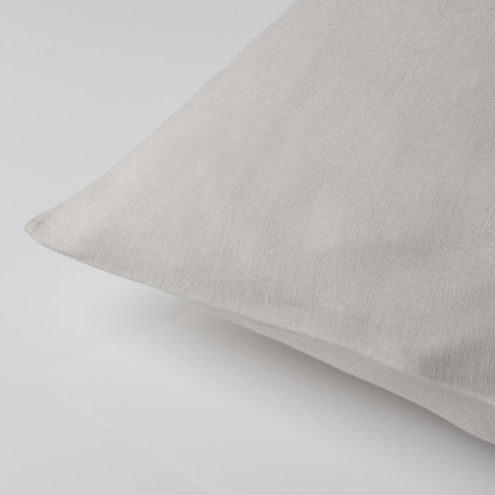 Kissenbezug Libeco Santiago 80 x 80 cm Light Grey