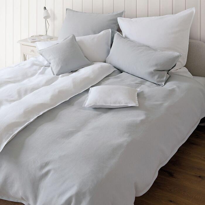 Torquato Bettbezug Leinen 155 x 220 cm Grau