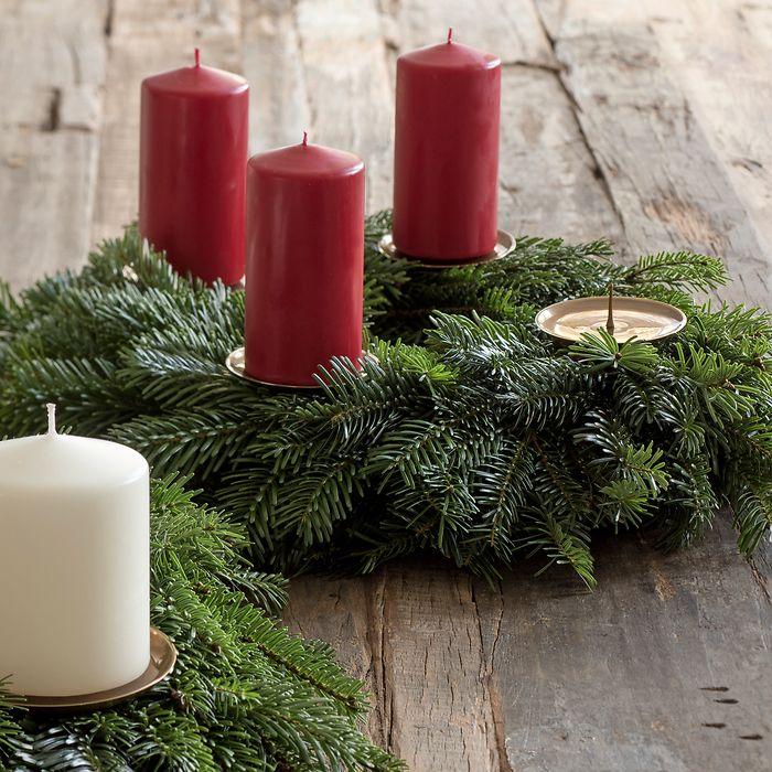 4 Messingkerzenhalter für Adventskranz Klein