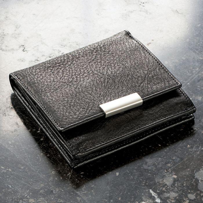Sonnenleder Geldbörse 'Wiener Schachtel' schwarz