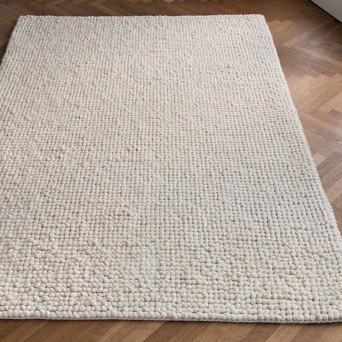 Handgewebter Teppich Aquinnah 170 x 240 cm Elfenbein