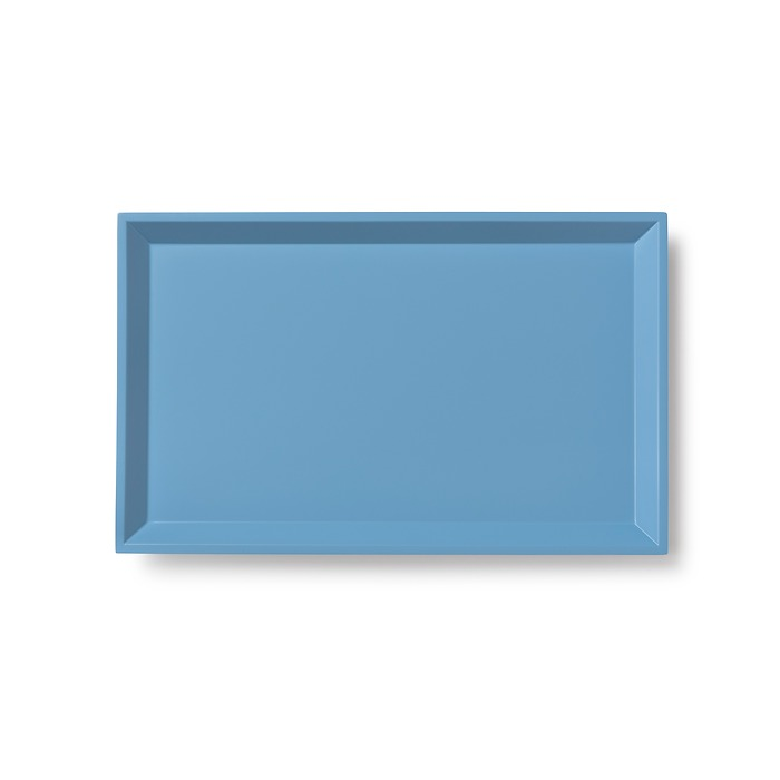 Rechteckiges Tablett Mira groß Blau