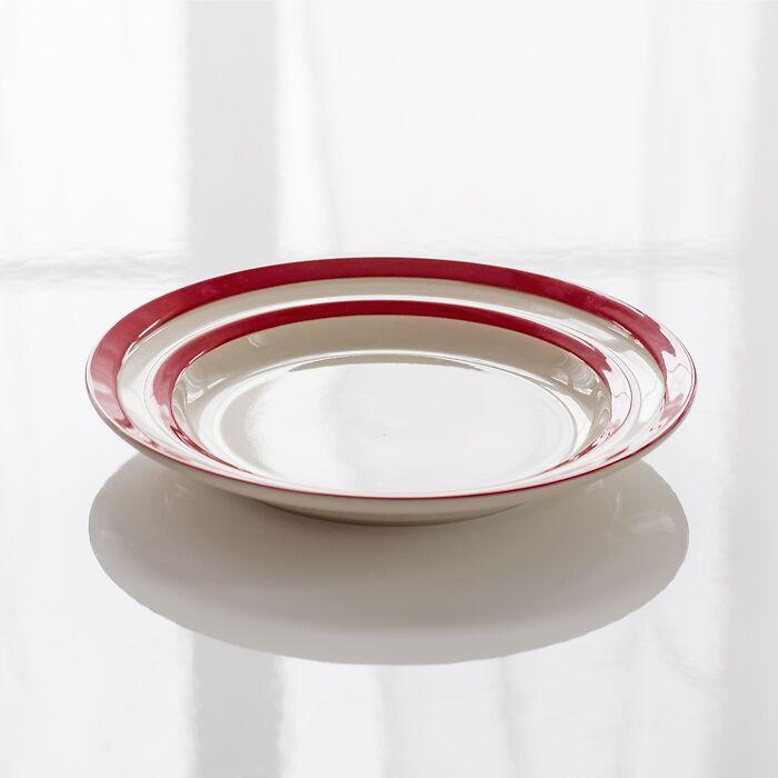4 Kleine Teller Cornishware Rot