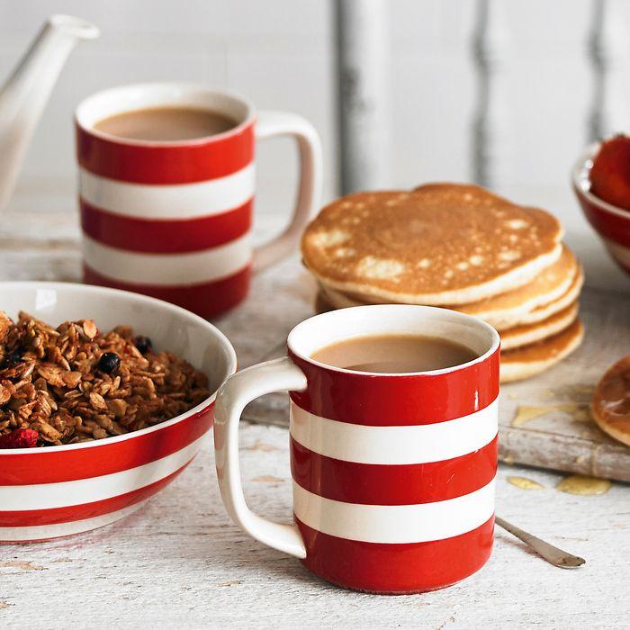 4 Müslischalen Cornishware Rot