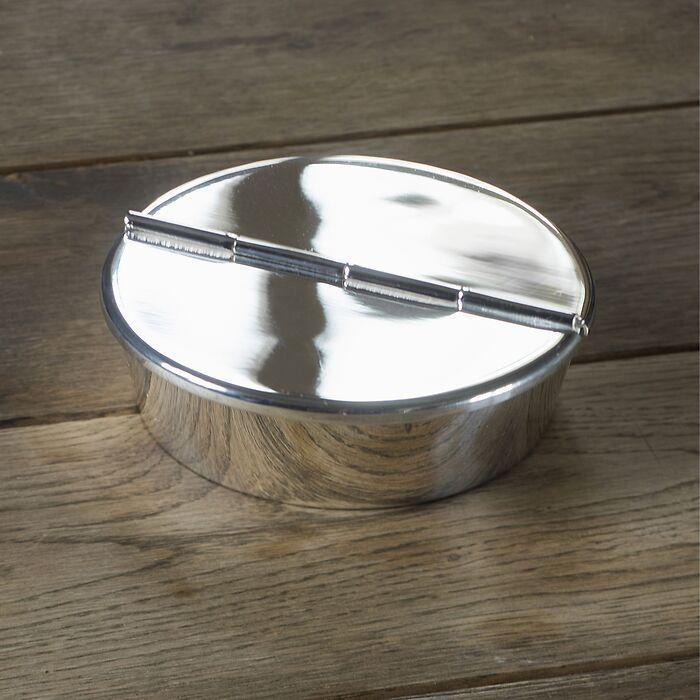 Sturmaschenbecher Messing mit Silberauflage