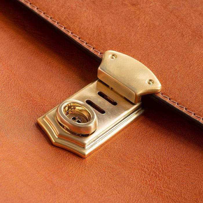 Aktentasche aus Stierleder Cognac